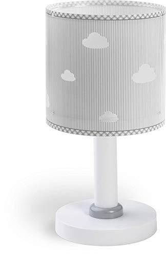 Dalber Sweet Dreams Lámpara infantil de Mesilla Nubes, Gris