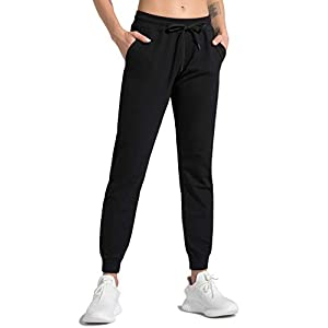 Joggers for Women Active Tapered Lounge Pants with Pockets Drawstring Workout Pants for Yoga, Running, Fitness