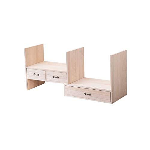 JJZXD Estantería de almacenamiento de escritorio Organizador de escritorio ajustable estante de exhibición estante de usos múltiples