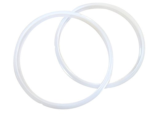 Twin Pack: GJS Gourmet Two Replacement Rubber Gaskets Compatible With 10 Quart Power Pressure Cookers (All 10 Quart Models)