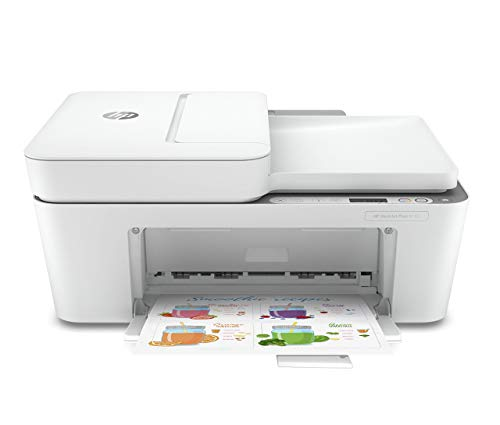 HP DeskJet Plus 4155 Wireless All-in-One Printer | Mobile Print, Scan & Copy | HP Instant Ink Ready | Auto Document Feeder (3XV13A) (Renewed)
