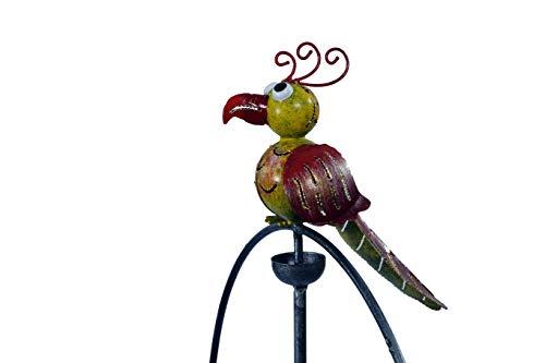Windspiel bunte Vögel 140cm Metall Wippe Pendel Pendler Vogel Gartenstecker