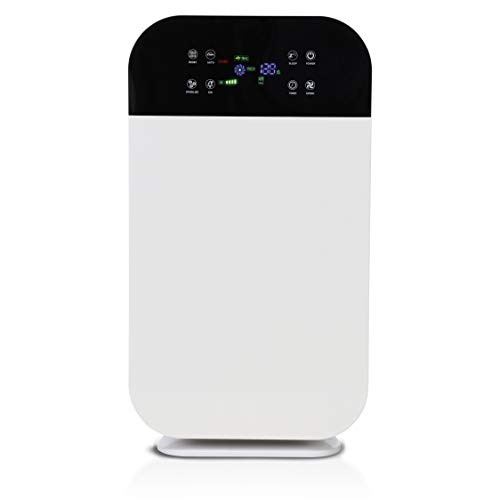 Mediashop Livington AirPurifier Deluxe | Luftreiniger bis zu 40m2 | 6-Filter-System | UV- und IONEN-Filter | Automatik-Funktion | 3 Stufen | Timer | entfernt 99% Aller Partikel | Das Original