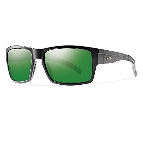 Smith Erwachsene Sportbrille Outlier Sonnenbrille, Schwarz (Matte Black/Green Sparkling), 56