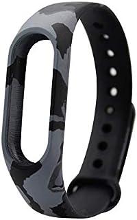 Replaceable TPU Wrist Strap for Xiaomi Mi Band 2 Smart Bracelet -Camo Black