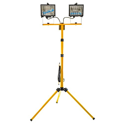 AB Tools 400wTwin Lampe halogène Lampe de projecteur Site Trépied télescopique lumière GAR71