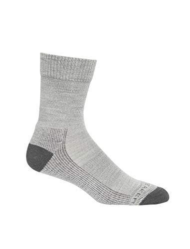icebreaker Damen Hike Light Crew Merino Socks Wandersocken, Blizzard Hthr, M
