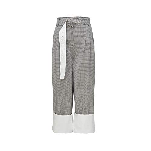Damas pantalones de deporte suave, transpirable pantalones deportivos ligeros sudor pantalones de algodón pantalones de yoga pantalones de los bolsillos de verano elástico de ocio largas,Gris,S