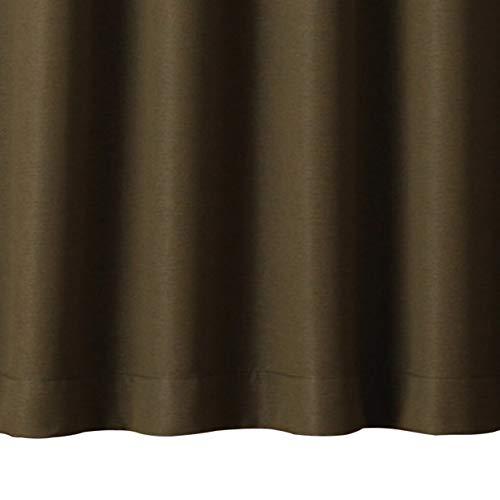 無印良品 ポリエステル二重織プリーツカーテン(防炎・遮光性)・2枚組/杢カーキ 幅100×丈200cm 82473032