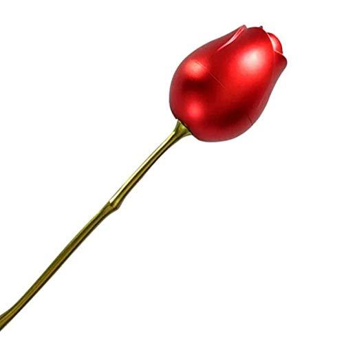 WZDTNL Caja de regalo de aleación de rosa, caja de regalo romántica con forma de corazón, mini pendientes organizadores de joyas para el día de la madre