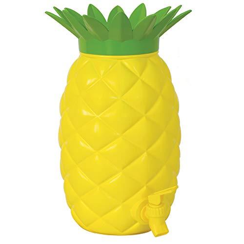 Island Genius Ananas-Getränkespender, Kunststoff, Hawaiianischer Luau, tropische Partyzubehör, Dekoration