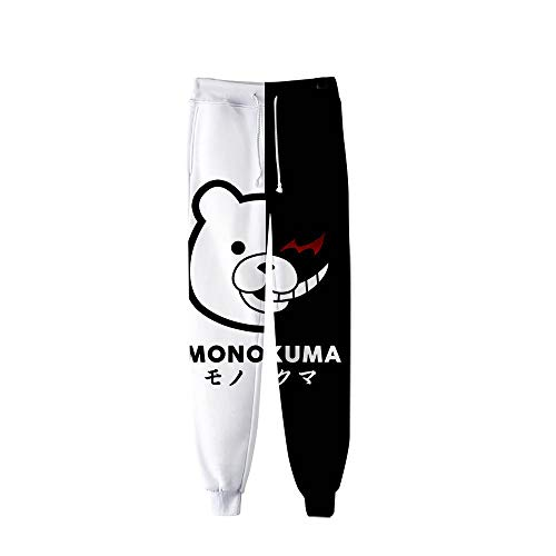 Spricen Danganronpa Anime Jogger Pantalones Deportivos Cosplay Largos Sweat Pants Trousers Pantalones Largos Lounge Pants Track Pants XL