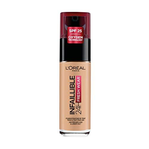 L'Oréal Paris Fondotinta Liquido Infaillible 24H Fresh Wear, A Lunga Tenuta, Protezione Solare SPF25, Beige Doré (140), 30 ml