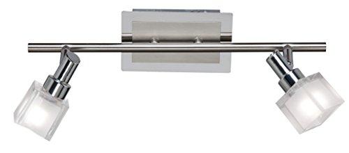 ESTO Lighting 760003-2 A++, Spotleuchte, Nickel, 6 W, G9, Grau/Chromfarbig, 9 x 40 x 14 cm