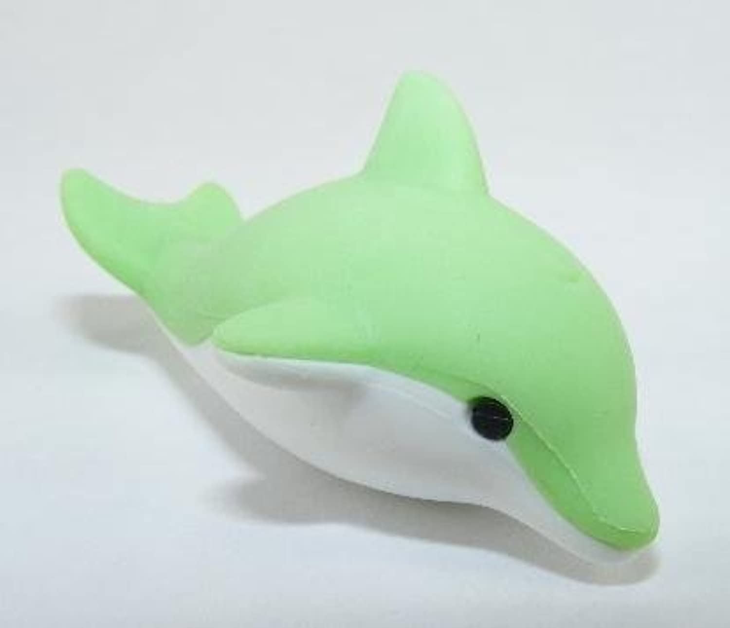 Dolphin Japanese School Erasers. Pastel Green color. 2 Pack. by PencilThings