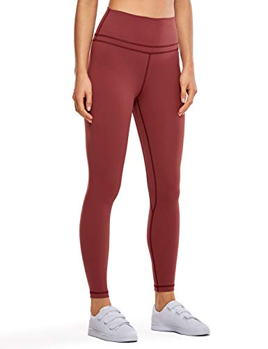 CRZ YOGA Women's Naked Feeling I High Waist Tight Yoga Pants Workout Leggings-25 Inches Savannah Red 25'' - R009 XS