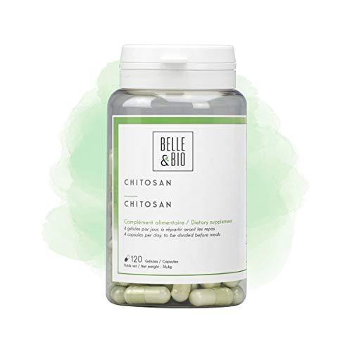 Belle&Bio - Chitosan - 120 Gélules - 320 mg/Gélule - Brûleur - Capteur - Fabriqué en France