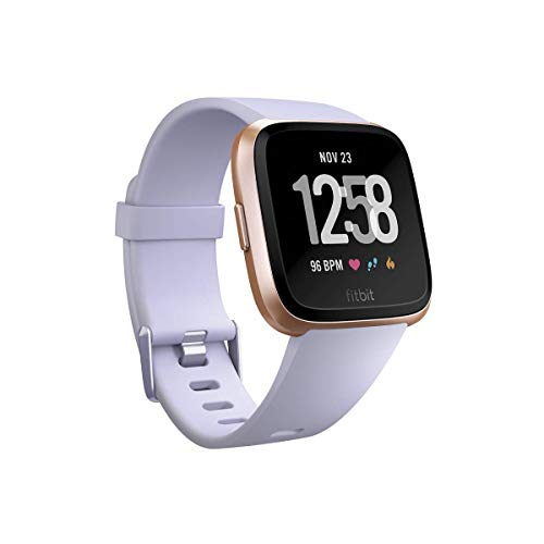 Fitbit Versa Smart Watch, Periwinkle/Rose Gold, Aluminium, One Size (S & L Bands Included)
