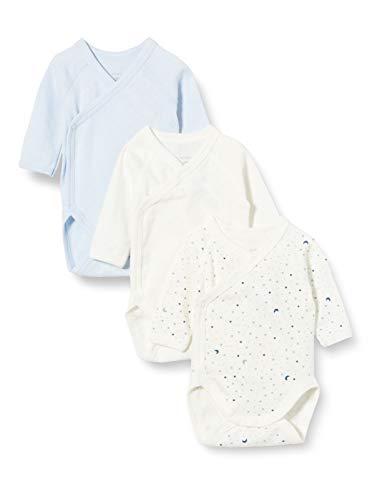 Petit Bateau 5649700 Conjunto de Ropa Interior para bebés y niños pequeños, Azul Blanco/Azul Blanco, Nacimiento