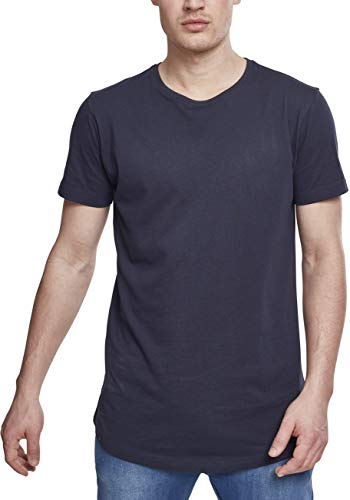 Urban Classics Herren Shaped Long Tee T-Shirt, Blau (navy), L