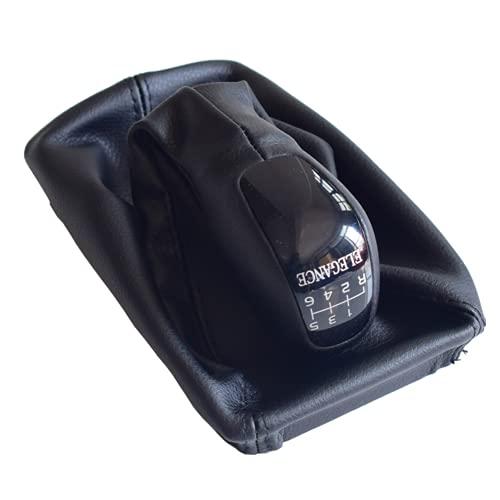 YSAZA Pomo de Cambio de Marchas Manual, Polaina, Funda para manija de bolígrafo, para Mercedes Benz E Class W211 2002-2006 Classic Elegance AVANTGARDE