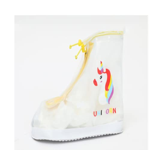 DFHGD Botines De Lluvia, Unisex para Niños, Impermeable, Impermeable Y a Prueba De Polvo. S/Funda para Zapatos de Unicornio Amarillo