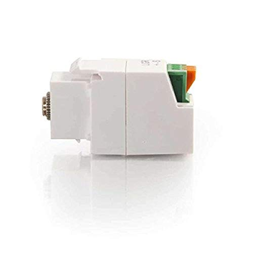 C2G 37036 3.5mm 3-Conductor Keystone Adapter, White