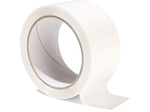 Modulor Verpackungsband, farbiges Klebeband aus Polypropylen, leise abrollendes Paketband mit Acrylatkleber, Breite 5 cm x Länge 66 m, 48 µm dick, weiß