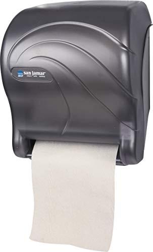 San Jamar T8090TBK Tear-N-Dry Essence Oceans Hands Free Paper Towel Dispenser, Black Pearl