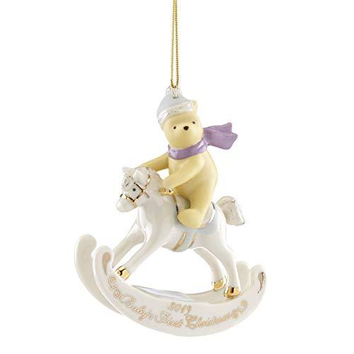 Lenox 884556 Disney 2019 Winnie the Pooh Baby's 1st Christmas Ornament
