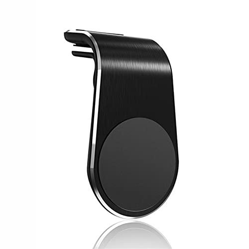 Soporte magnético para coche, fácil de usar con una sola mano, forma de L, soporte de ventilación de coche, soporte universal para teléfono, para iPhone, Samsung, y todos los smartphones