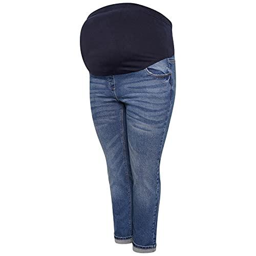 UC Womens Ex High Street Brand Over Bump Maternity Jeans Ladies Boyfriend Stretchy Denim Pants