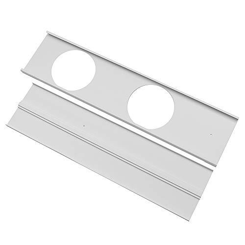 BouBou 2 Piezas Ajustable 120Cm-Max Kit De Ventana Placa Aire Acondicionado Protector De Viento para Aire Acondicionado Portátil Kit De Herramientas