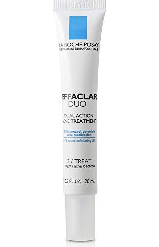 La Roche-Posay Effaclar Duo Dual Action Acne Spot Treatment Cream with Benzoyl Peroxide, 0.7 Fl oz