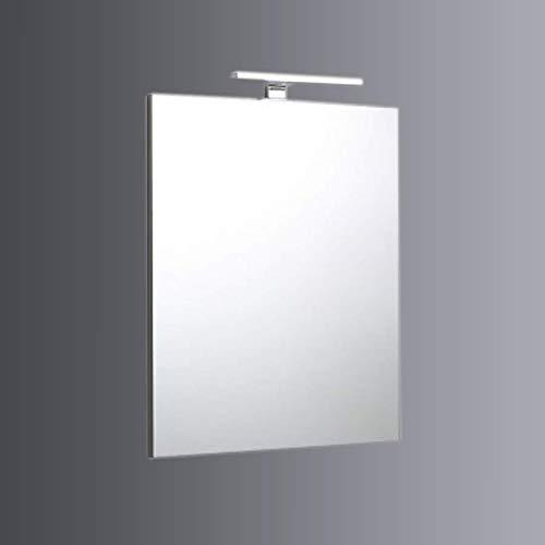 SPECCHIO BAGNO A FILO REVERSIBILE 60X70 CON LAMPADA LUCE A LED
