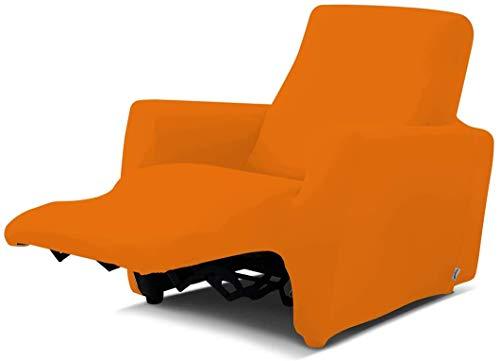 Biancaluna Copripoltrona per Poltrone Reclinabili Relax Genius Lounge Copridivano 1 Posto (Arancio)
