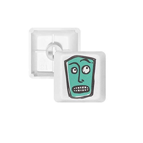 Suprised Abstract Gezicht Schets Emoji PBT Keycaps voor Mechanisch Toetsenbord Wit OEM Geen Markering Print R2 Multi kleuren