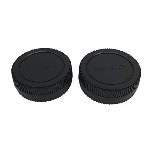 HomyWord 2 PACK Body Cap & Camera Rear Len Cover Set For Micro 4/3 DSLR...