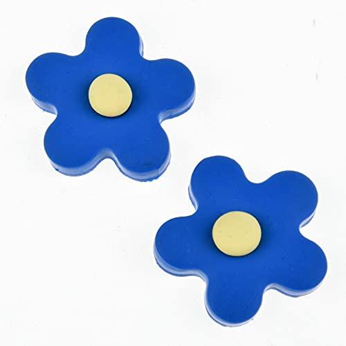 MURUI NTZ 10pcs 23mm Arcilla Hecha a Mano pequeñas Flores/Flor de Sol Bricolaje Horquilla/Accesorios de Anillo de Pelo Yc705 (Color : 2)