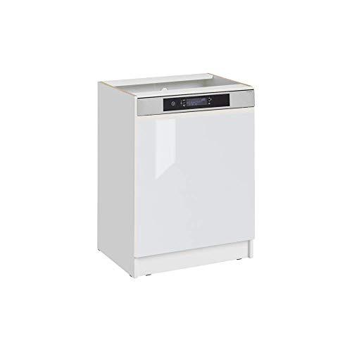 Cuisineandcie - Façade pour lave-vaisselle semi-intégrable - L 60 cm - blanc brillant
