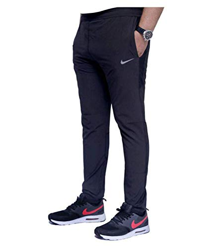 EASY4BUY Men's Regular Fit Trackpants (NKE_LOWER_06_Black_X-Large)