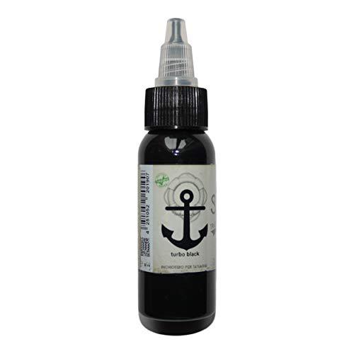 Sailor Jerry Tattoofarbe, Turbo Black (Turbo Schwarz), 30 ml. Made in GERMANY! Mit Zertifikat! Tätowierfarbe, Tattoo Ink, Vertrieb durch HAN-SEN GmbH!