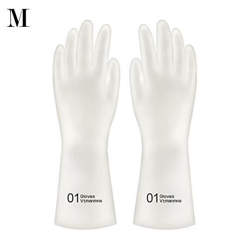 Aibrou rubberen handschoen voor de keuken, rubberhandschoenen, washandjes, waterdicht, keukenreiniging, spoelhandschoenen, latex rubber, reinigingshandschoenen Medium Cijfers 1 paar