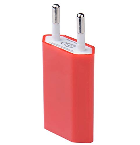 Shot Case USB Wall Socket Adaptor for iPad 2 with 1 AC Power Port Charger White (5V-1A) Universal (Red)