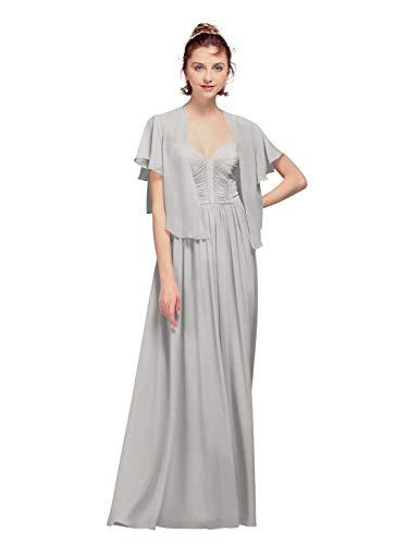 AW Bridal - Chales de gasa para mujer, para vestidos de noche, gasa, capas de boda, suaves Plateado Místico 95
