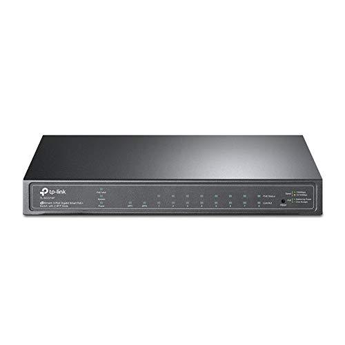 TP-Link TL-SG2210P 10-Port Smart Switch mit 8 PoE+ Ports (61 Watt, Zentrales Cloud-Management, In Omada-SDN integriert, IPv6-Unterstützung, Sicheres Netzwerk) Schwarz