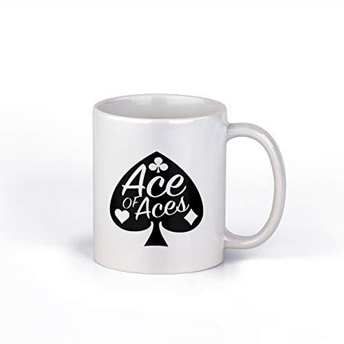 Kaffeebecher Ace of Aces DD046, Keramik, 313 ml, Geschenktasse