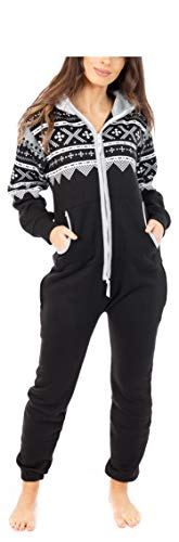 Juicy Trendz® Herren Onesie Overall Trainingsanzug Jogginganzug Einteiler Norweger Jumpsuit