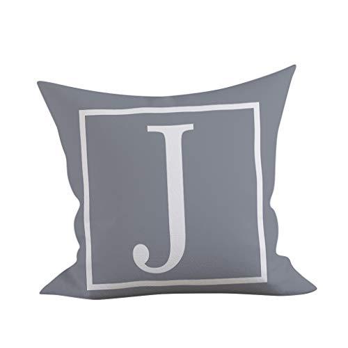 NEEKY 45x45cm kindergarten cute decorative letter pillow English alphabet pillowcase simple pillowcase