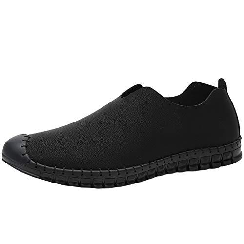 Sayla Zapatos Zapatillas para Hombres Casual Moda Verano Running Zapatos De Cuero Transpirables CóModos Y Ligeros De Punta Redonda Pisos Mocasines Antideslizantes Al Aire Libre